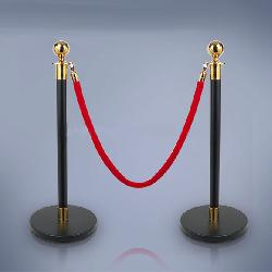 Stanchions-Black/Gold