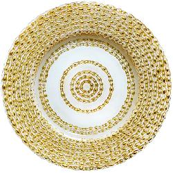 Gold/White Pattern Glass Charger Plate