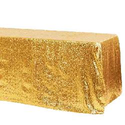 Gold Sequin 90x156